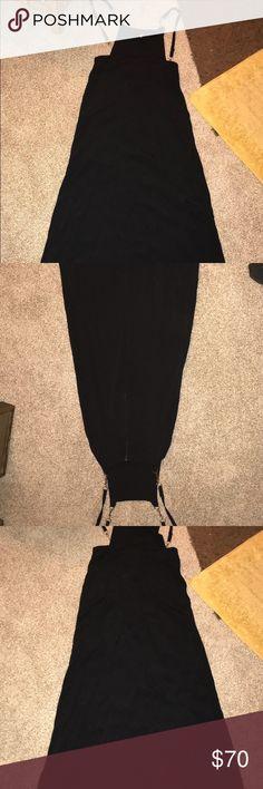 Betsy Johnson dress All black slip dress likely new Betsey Johnson Dresses High Low