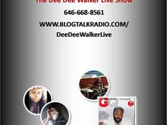 ".#DeeDeeWalkerLiveRadio www.BlogTalkRadio.com/DeeDeeWalkerLive Tonight's Schedule featuring R&B Singer Isaac Lee & Entertainer Don Edwards... Music by spoken Word Artist Creative Confidence, Gospel Singer Phyllis Jordan, Issac Lee & Don Edwards... Tonight at 7pm ""The Dee DeeWalker Live Show"" *You can also listen to The Dee Dee Walker Live Show on Blog Talk's Radio Pass The Mic on Wednesdays at 8pm That's Monday Nights at 7pm on #DeeDeeWalkerLiveRadio &a..."