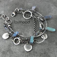 labradoryt - bransoletka z pastylkami Biżuteria Bransolety formood