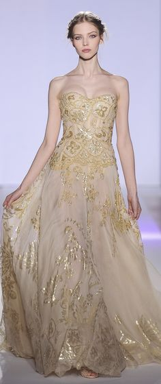 Zuhair Murad Haute Couture Spring/Summer 2013 – Gold and Champagne .