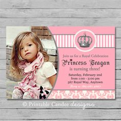 Royal Princess Birthday Invitation - DIY Custom Printable