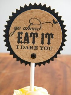 Halloween food tags - I unfortunately immediately thought that this would make an excellent tattoo