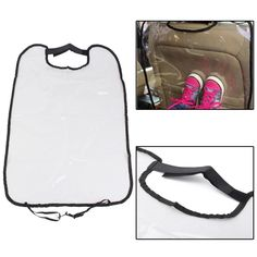 Car Safety Seat Back Cover Protector Baby Anti Kick Pad Anti Stepped Dirty Pad. Specification:    material: Heavy Duty Transparent Pvc  color: Transparent  size: 665mm(max.l)x455mm(max.w)/26.1'x17.9'  quantity: 1pc  car Seat Back Protector To Protect The Car Seat Not To Be Dirty!    features:    -with Black Surround To Suit Any Interior.  -simply Attach To Headrest - Easily Removable.  -velcro At The Top To Attach Round The Headrest Without The Need To Remove.  -universal Size. Ties Neatly…