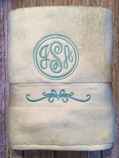Embroidered towel tutorial the cottage mama machine embroidery use the frilly motif on the kitchen towel i want to make with the word mint above it ccuart Image collections