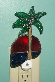 Palm Tree Nightlight by HolidazeGlass on Etsy, $25.00
