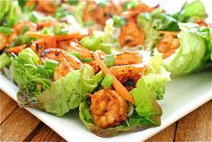 Spicy Shrimp Lettuce Wraps--Big hit at last night's party!