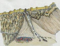 Painting of the Roman assault on Masada.