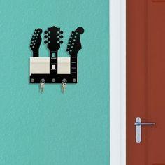 porta chaves e correspondência guitarras geek