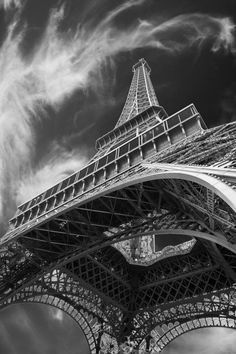 Eiffel Tower Print Black and White Photo by DeepLightPhotography