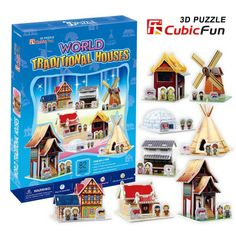 TnsDeals brought CubicFun's range of 3D puzzles with world traditional house from Indonesia, Thailand, Japan and many more with cubicfun 3d puzzle. It's fun and challenging to build. http://tnsdeals.com/world-traditional-houses.html