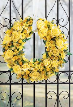 Yellow floral wreath