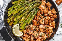 Garlic Butter Chicken Bites and Asparagus Recipe – Best Chicken Recipe — Eatwell101