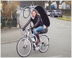 Bicycle With A Canopy To Protect You From The Rain Bikes