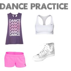 A fashion look from July 2014 featuring braided shirt, nike activewear and pink sportswear. Browse and shop related looks. Dance Outfits, Sport Outfits, Girl Outfits, Gymnastics Costumes, Dance Costumes, Dance Fashion, Teen Fashion, Latin Dance Dresses, Dance Wear