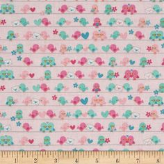 Riley Blake Lovey Dovey Birds Pink from @fabricdotcom  Designed by Doodlebug Design for Riley Blake, this cotton print fabric is perfect for quilting, apparel, crafts, and home decor items. Colors include light pink, dark pink, aqua, and white.