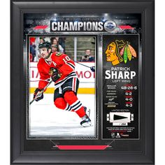Patrick Sharp Chicago Blackhawks Fanatics Authentic 2015 Western Conference Champions Framed 15'' x 17'' Collage with Piece of Game-Used Puck - Limited Edition of 250 - $89.99