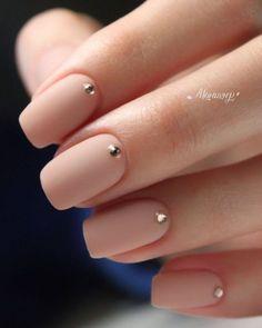 Nageldesign - Nail Art - Nagellack - Nail Polish - Nailart - Nails 15 Not boring nude nails ideas to Nude Nails, Matte Nails, Gel Nails, Nail Nail, Nail Polish, Manicure For Short Nails, Long Nails, Coffin Nails, Nail Pink
