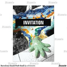 "SOLD this cool ""Barcelona Gaudi Park Guell invitation card"" to Switzerland, thanks :) #AntoniGaudi #Gaudi #Barcelona #Spain #ParcGuell"