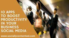apps, productivity, social media
