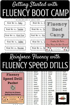 "Introducing and reinforcing FLUENCY in the classroom. These resources break-down fluency into the major components for students to understand that fluency is more than just ""reading fast."" Speed drills provide follow-up practice for pace and accuracy. (Be sure to check out ALL fluency products from @MsJordanReads)"