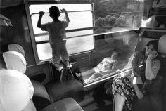 by Ferdinando Scianna, Italy Train journey, Brindisi - Rome, 1991