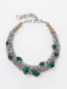 The Amazona Colombia necklace is Cindy Chao's 2012 Masterpiece, with over 100ct of fine Colombian emeralds, diamonds and yellow diamonds.