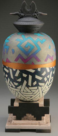 """Petroglyph Vessel"" - Rick Foris (raku)"