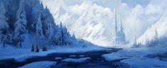Ice Temple, Andreas Rocha on ArtStation at https://www.artstation.com/artwork/dedbw