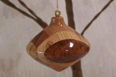 Turned Wood Ornament - 22