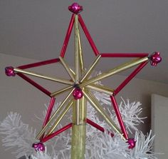 Vintage Tree Topper Glass Christmas Star by FingerLakesFinds, $40.00