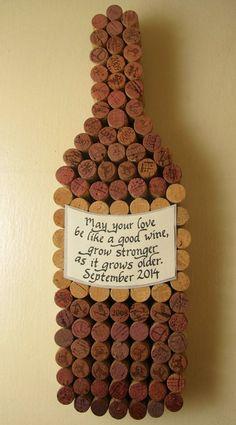 Handgemachte Wein Korken Weinflasche Korken Board mit Hand Label, personalisierte Kalligraphie zu zitieren, schneiden hinzugefügt für Hochzeit oder Jubiläum