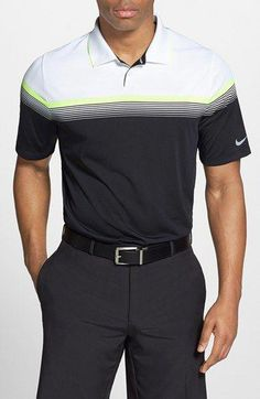 77fed050fd1c golf fashion Nike  Major Moment  Stripe Dri-FIT Golf Polo available at