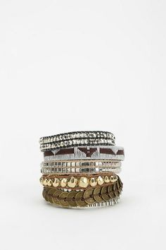 HIPANEMA Silver Cuff Bracelet #urbanoutfitters