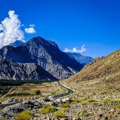 Nomal town, Karakoram Highway, Pakistan