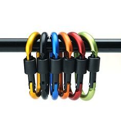 4ucycling Aluminum Alloy Carabiner Screw Buckle Lock 3 Durable Lightweight Pack of 6 >>> Continue to the product at the image link.Note:It is affiliate link to Amazon. #amazing