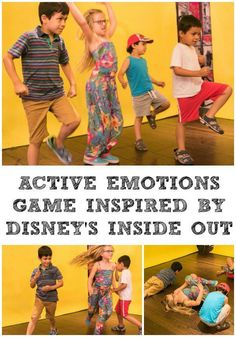 Kids Active this Summer with and Disney Disney Inside Out Inspired active emotions game for kids. Learning to identify and label emotionsDisney Inside Out Inspired active emotions game for kids. Learning to identify and label emotions Drama Activities, Emotions Activities, Gross Motor Activities, Movement Activities, Educational Activities, Preschool Activities, Drama Games For Kids, Dancing Games For Kids, Disney Games For Kids