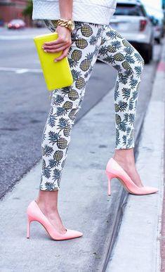 Manolo Blahnik Heels | Pineapple Skinny Pant