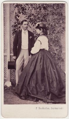 Prince Alfred of england and sister Gdss Alice of Hesse. Darmstadt, 1860s