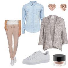 OneOutfitPerDay 2016-02-09 - #ootd #outfit #fashion #oneoutfitperday #fashionblogger #fashionbloggerde #frauenoutfit #herbstoutfit - Frauen Outfit Outfit des Tages Adidas Originals Artdeco CARTOON Khujo Michael Kors ONLY