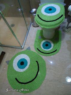 jogo de banheiro de croche minions - Pesquisa Google