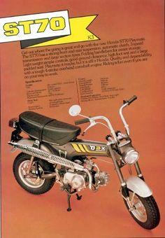 Honda ST70 - adv Classic Honda Motorcycles, Small Motorcycles, Vintage Motorcycles, Motos Honda, Honda Bikes, Honda Motors, Honda Dax, New Honda, Womens Motorcycle Helmets