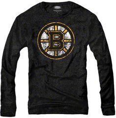 Boston Bruins Black Majestic Threads Long Sleeve Tri-Blend T-Shirt Nhl  Apparel cb9a3b16e