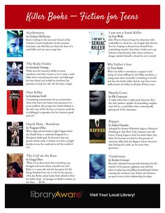 Hey there LibraryAware fans- take a look at this ready-to-go annotated teen book list our Book Squad just added. Search wide bookmarks, open and print. It's just that easy!