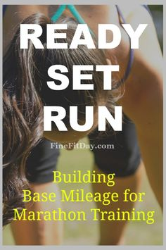 Marathon Training: Building Base Mileage. Starting off a marathon training program with a good mileage base is more than just the number of miles you run in a week. Try this easy approach to getting yourself ready for marathon training without getting burnt out or injured. | run chat | running tips |