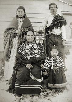 Ассинибойны, Форт Белкнап, Монтана. 1899 год.