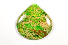 Green Variscite cabochon by Fabbydabbystones on Etsy, $16.00