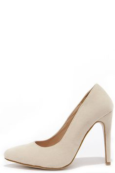 Pump You Up Nude Suede Pointed Pumps at Lulus.com!