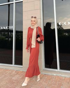 Hijab Fashion, Korean Fashion, Fashion Outfits, Womens Fashion, Ootd Hijab, Hijab Outfit, Muslim, Casual Outfits, Elegant