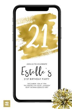 21st Birthday Party Invitations For Your Cell Phone This Electronic Invite Comes As An