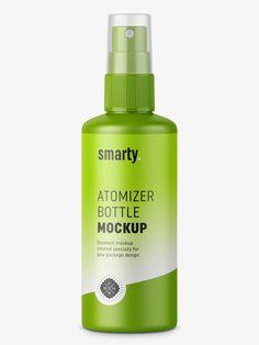 Mist spray bottle mockup / 100 ml